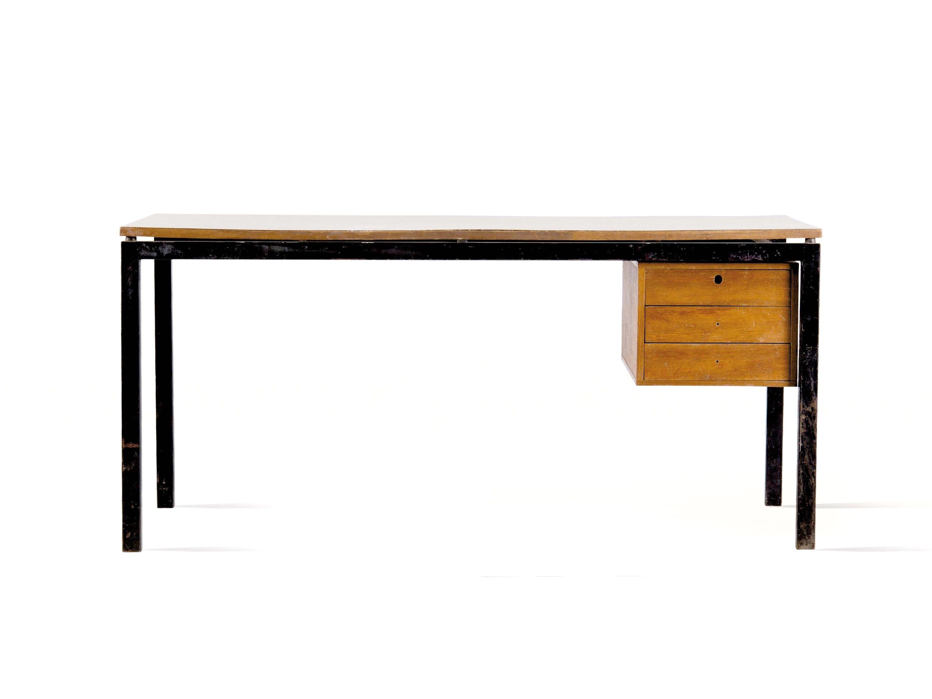 Galerie alexandre guillemain artefact design charlotte perriand bureau edition steph simon - Bureau charlotte perriand ...