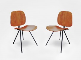 Pair of mod. S88 chairs