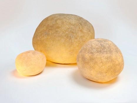 Set of 3 lighting rocks