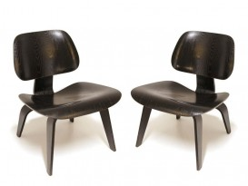Pair of LCW - Lounge Chair Wood