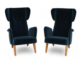 Pair of mod. President armchairs
