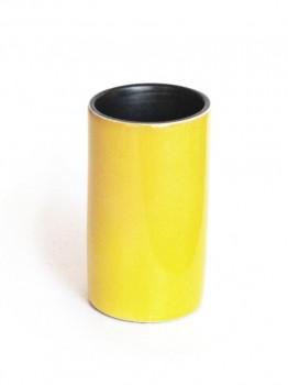 Yellow cylinder vase