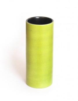 Green cylinder vase