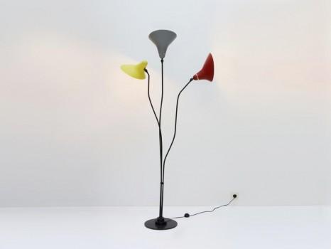 Three reflectors floor lamp