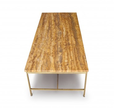 Sienna marble low table