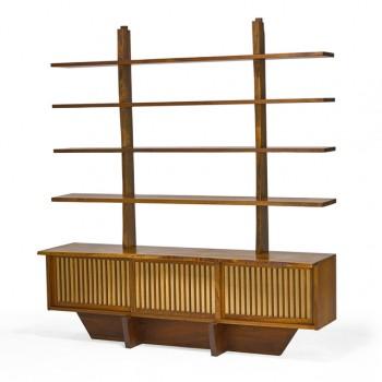 Exceptionnel cabinet pandanus 3 portes et son étagère