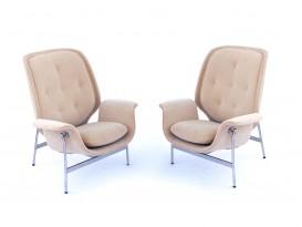 Pair of Kangaroo lounge chairs