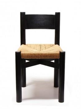 Suite de 6 chaises Méribel noires