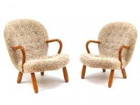 Pair of Clam chairs