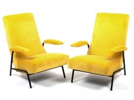 Pair of armchairs in velvet