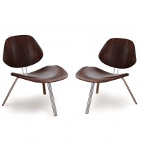 Pair of mod. P31 low chairs