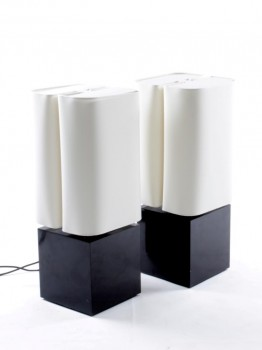 A pair of Brasilia table lamp