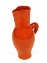 Orange ceramic picher