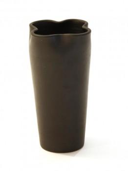 Black ceramic vase model 1060