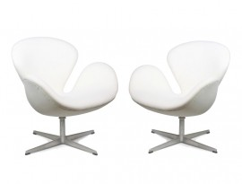A pair of Swan chairs