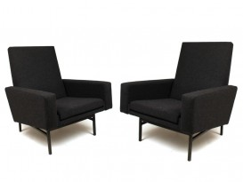 Pair of model 642 armchairs
