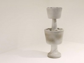 Ceramic sculpture vase