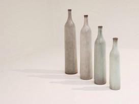 Set of 4 ceramic bottles