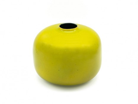 Yellow ceramic vase
