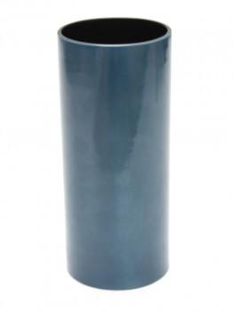 Important vase rouleau bleu