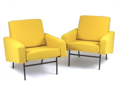 A pair of model G10 armchairs