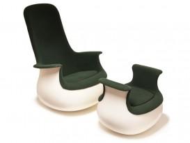 Grand fauteuil Culbuto et repose-pied