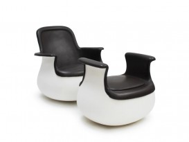 Culbuto chair and ottoman