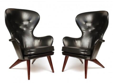 Paire de fauteuils modèle Président