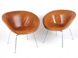 A pair of Pot chairs