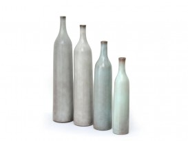 Set of 4 ceramic bottles