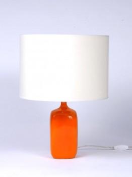Orange ceramic lamp