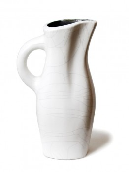 White ceramic picher