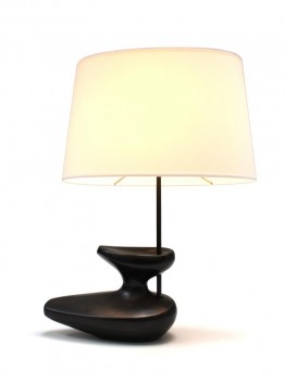 Black Navette ceramic lamp