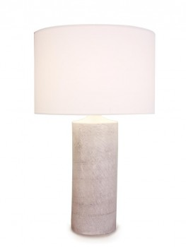 Lampe cylindre blanche