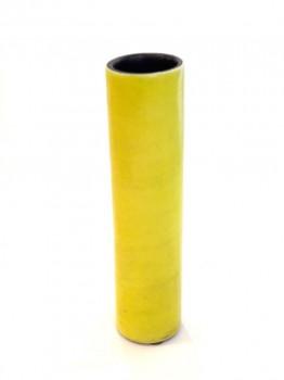 Vase rouleau jaune
