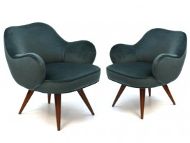 A pair of Barrel chairs
