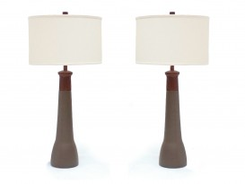 A pair of ceramic lamps