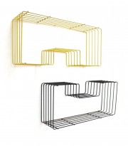 Pair of shelves, Metal thread model