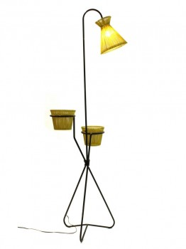 Planter floor lamp