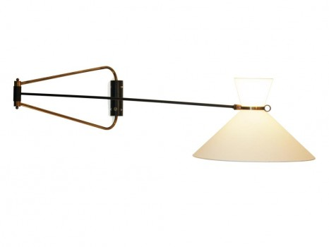 Diabolo wall lamp with adjustable double arms