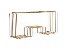 Metal thread shelve