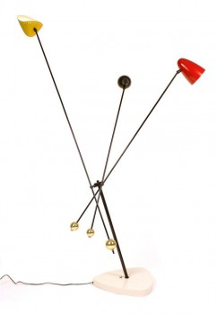3 rotating arms floor lamp all colors lacquered