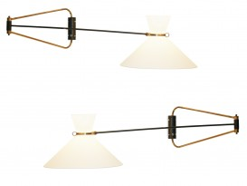 A pair of diabolo wall lights