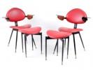 Paire de fauteuils et tabourets modèle Lutrario