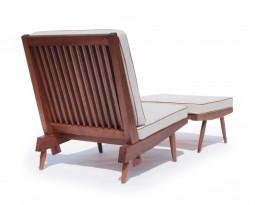 Cushion chair and ottoman