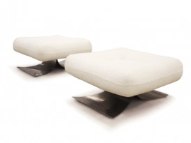 Pair of ON1 Brazilia ottomans