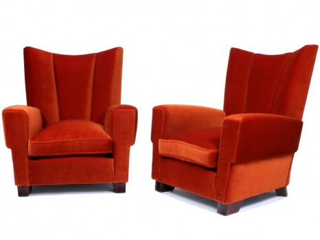 A pair of Confortable chairs