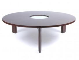 Saturn ring pedestal table
