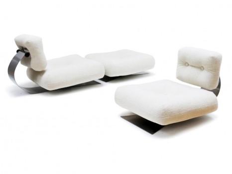 Paire de fauteuils Brazilia ON1 et ottoman
