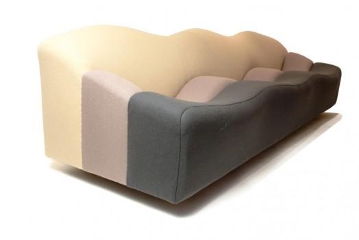 Tthree-seat sofa model ABCD